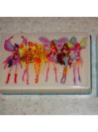 Детское натуральное мыло с героями любимых мультфильмов