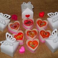 Мыльная валентинка в коробочке