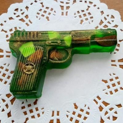 """Мыло """"Пистолет"""" камуфляжной расцветки"""