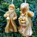 """Новогодняя свеча """"Дед Мороз"""""""