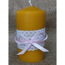 Большая свеча из пчелиного воска