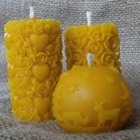 Медовая свеча из пчелиного воска